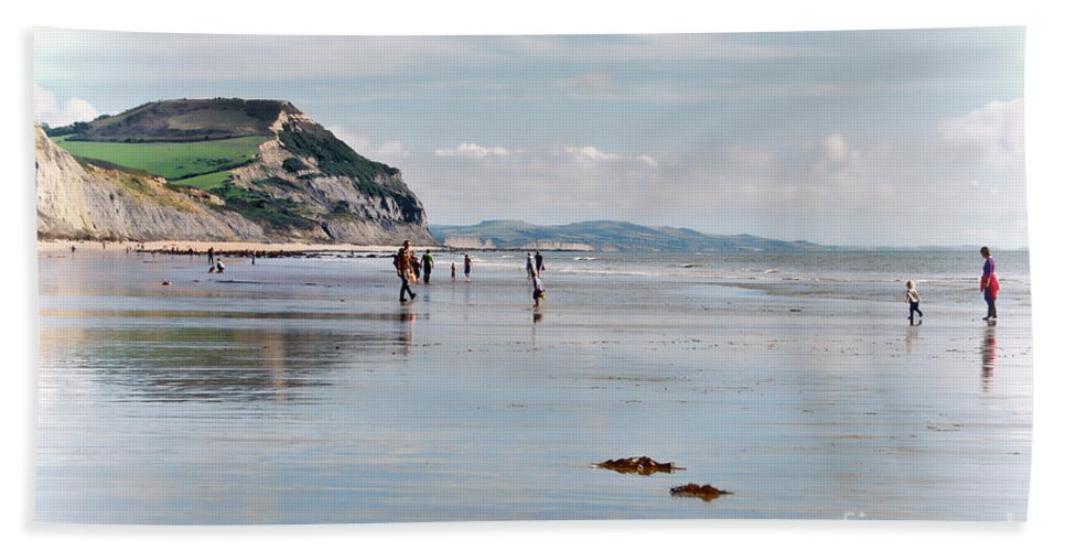 Charmouth Bath Sheet featuring the photograph Charmouth Beach 2 by Susie Peek