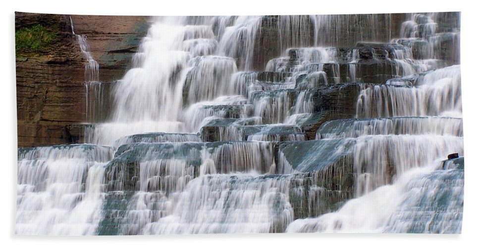 Ithaca Bath Sheet featuring the photograph Chasing Waterfalls by Debbie Fieno