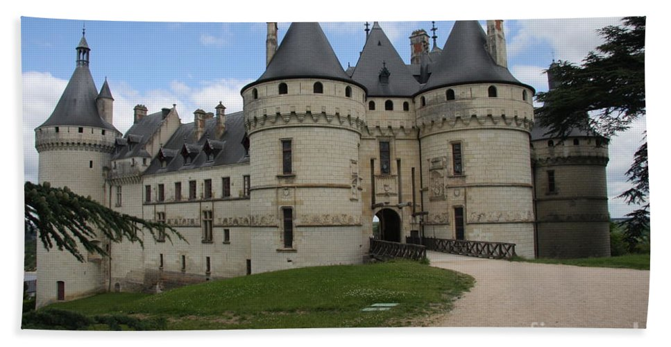 Palace Bath Sheet featuring the photograph Chateau Chaumont Steeples by Christiane Schulze Art And Photography