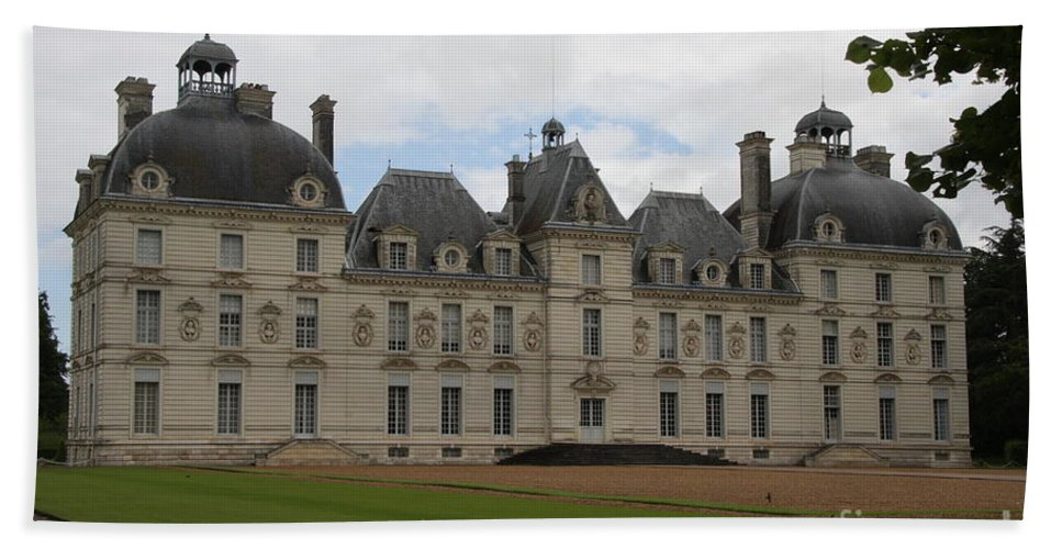 Palace Bath Sheet featuring the photograph Chateau Cheverney - Front View by Christiane Schulze Art And Photography