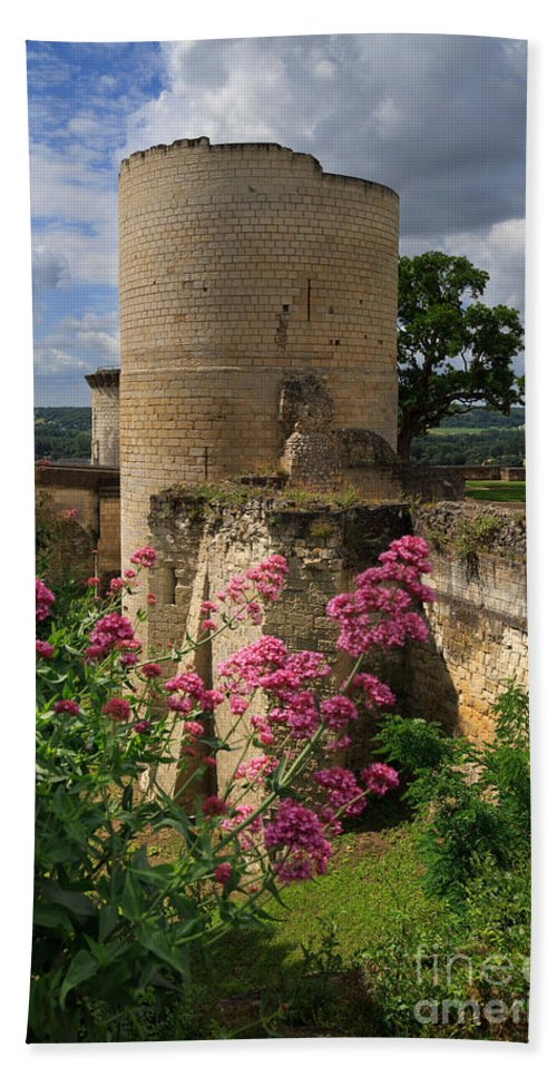 Tour Du Coudray Hand Towel featuring the photograph Chateau Chinon In The Loire Valley by Louise Heusinkveld