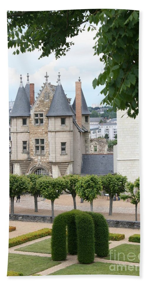 Castle Bath Sheet featuring the photograph Chateau D'angers - Chatelet View by Christiane Schulze Art And Photography