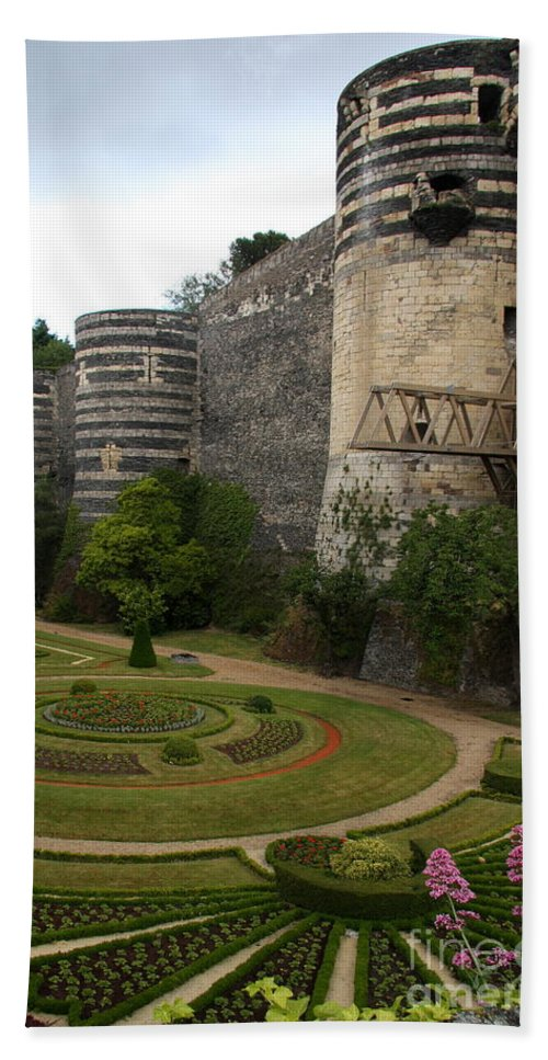 Castle Hand Towel featuring the photograph Chateau D'angers by Christiane Schulze Art And Photography