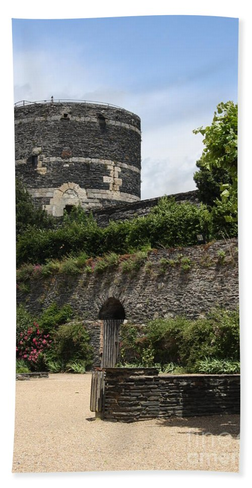 Castle Bath Sheet featuring the photograph Chateau D'angers Tower by Christiane Schulze Art And Photography