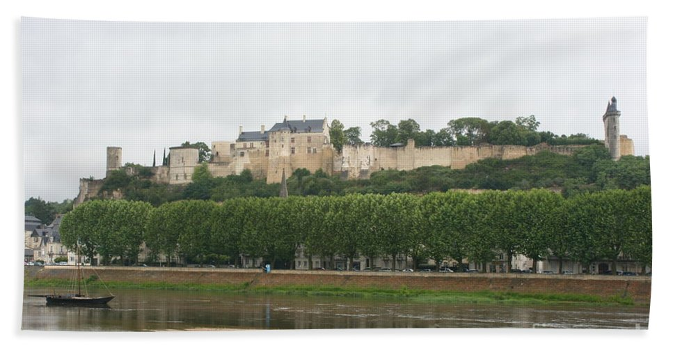 Castle Bath Sheet featuring the photograph Chateau De Chinon - France by Christiane Schulze Art And Photography