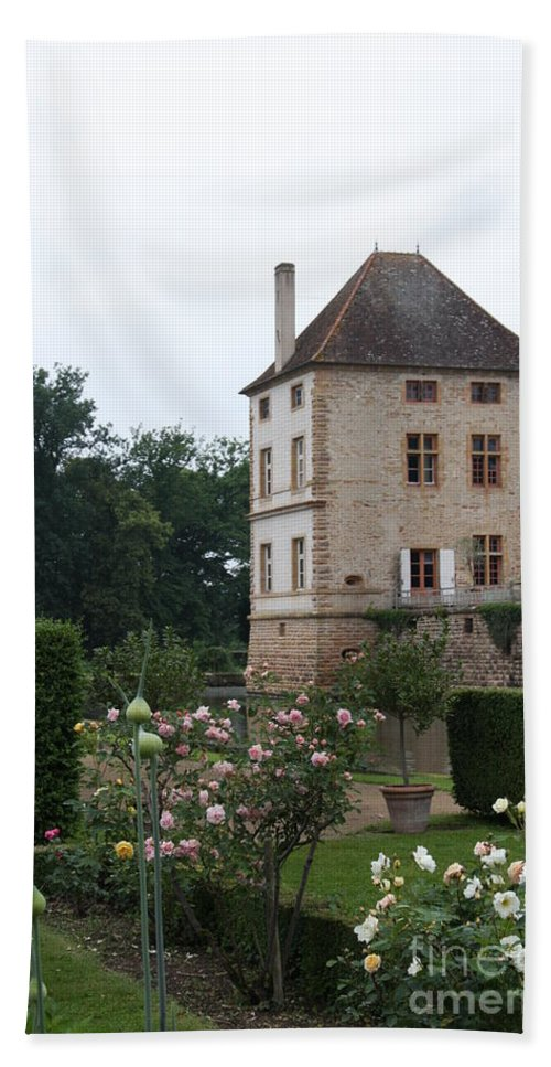 Palace Hand Towel featuring the photograph Chateau De Cormatin - Burgundy by Christiane Schulze Art And Photography