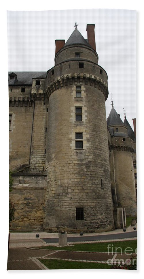 Castle Hand Towel featuring the photograph Chateau De Langeais - France by Christiane Schulze Art And Photography