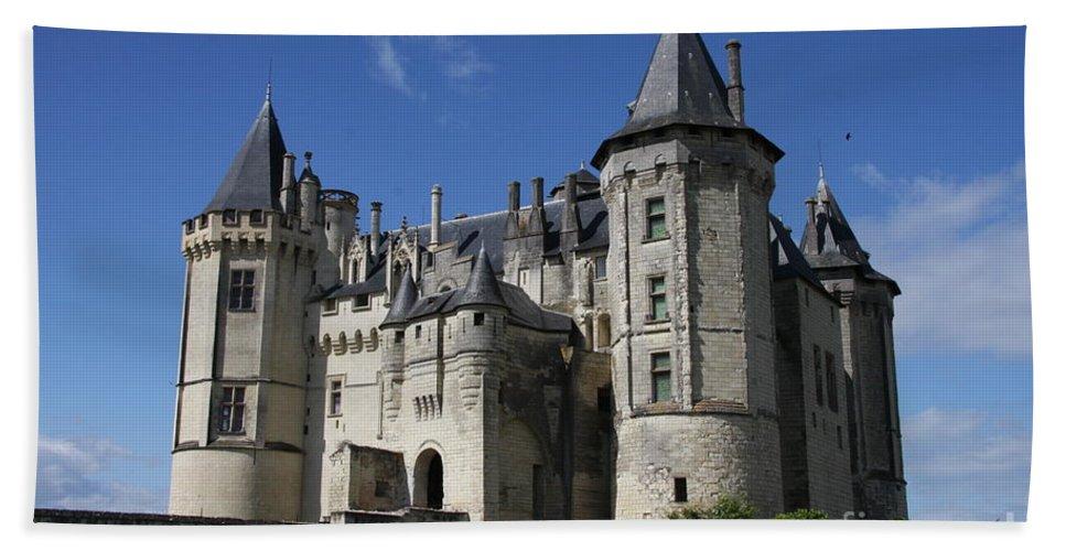 Castle Bath Sheet featuring the photograph Chateau De Saumur by Christiane Schulze Art And Photography