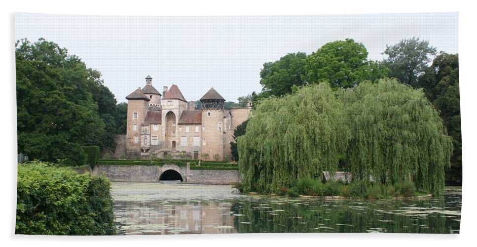 Palace Hand Towel featuring the photograph Chateau De Sercy - Burgundy by Christiane Schulze Art And Photography