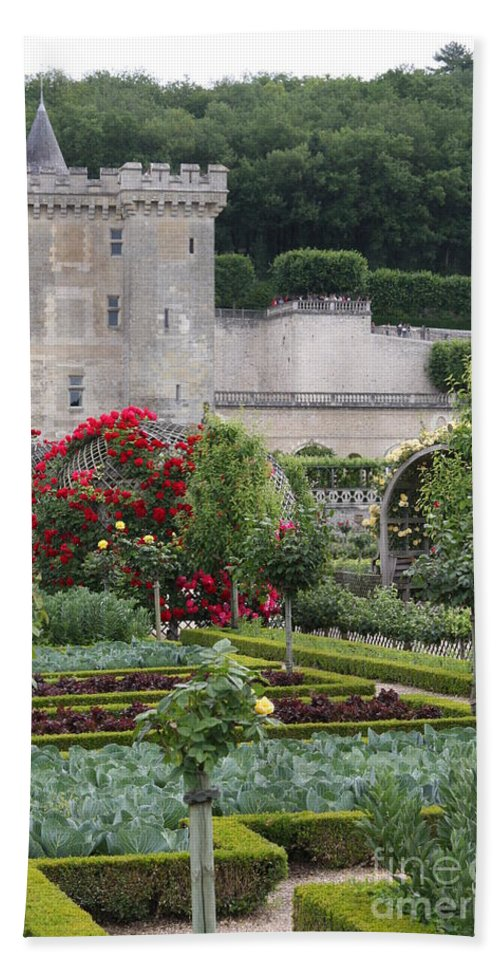 Palace Bath Sheet featuring the photograph Chateau Villandry And The Cabbage Garden by Christiane Schulze Art And Photography
