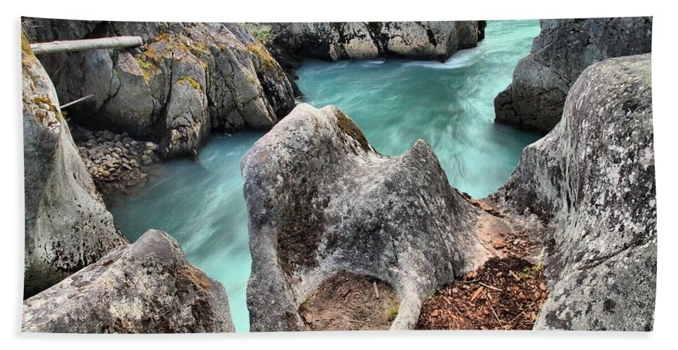 Cheakamus River Hand Towel featuring the photograph Cheakamus River Channel by Adam Jewell