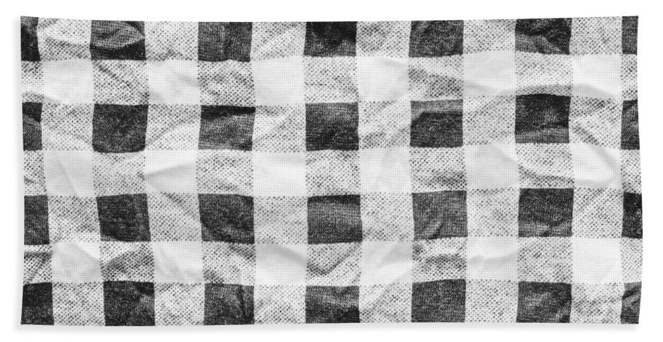 Backdrop Hand Towel featuring the photograph Checked Cloth by Tom Gowanlock