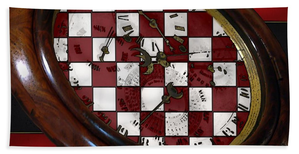 Antique Bath Towel featuring the painting Checkmate by RC DeWinter