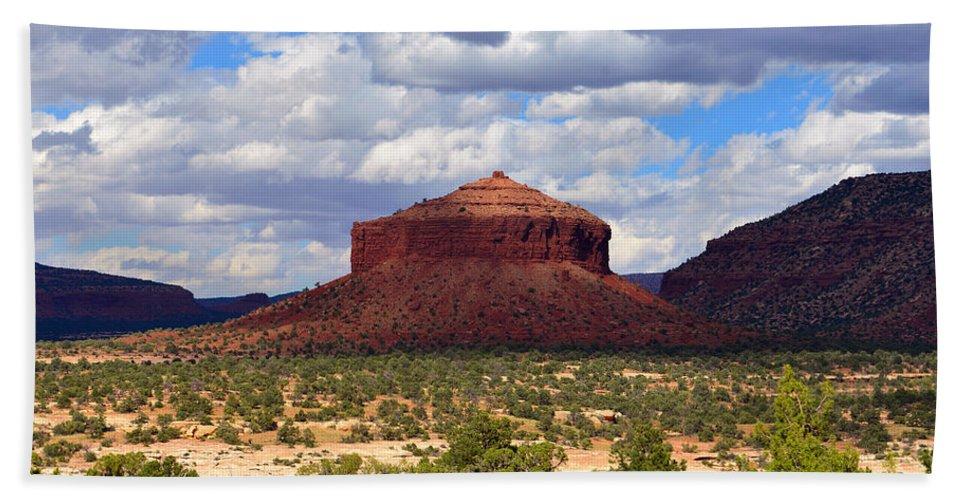 Cheesebox Mesa Utah Bath Sheet featuring the photograph Cheesebox Mesa by David Lee Thompson
