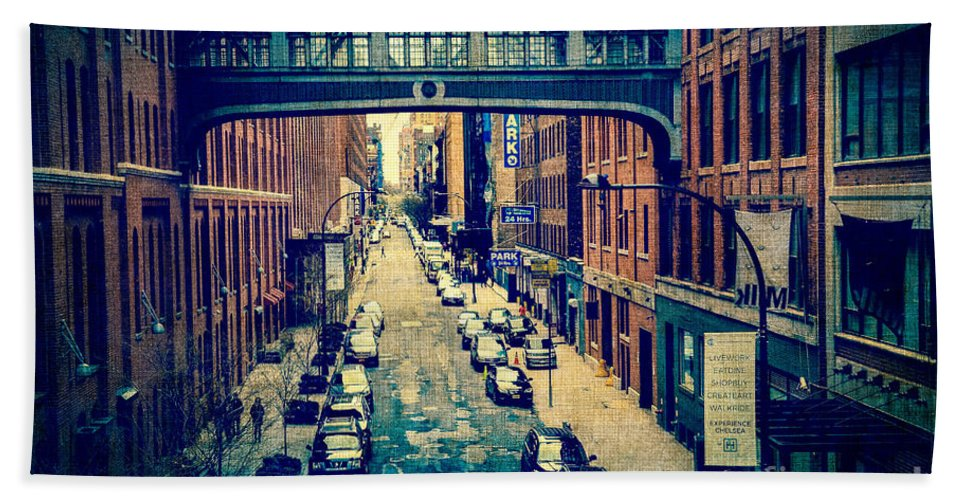 Architecture Hand Towel featuring the photograph Chelsea Street As Seen From The High Line Park. by Amy Cicconi