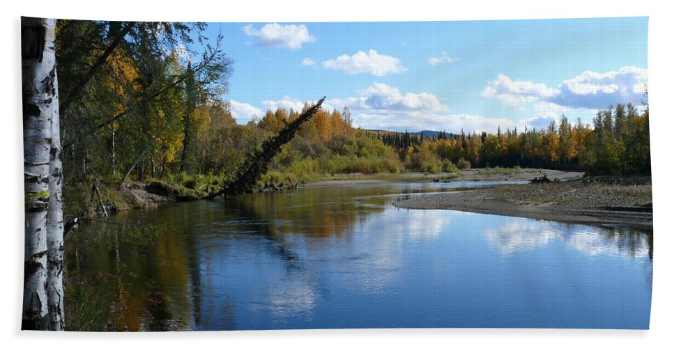 Chena Hand Towel featuring the photograph Chena River by Dee Carpenter