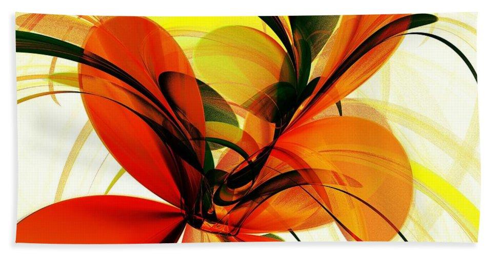 Plant Bath Sheet featuring the digital art Chervona Ruta by Anastasiya Malakhova