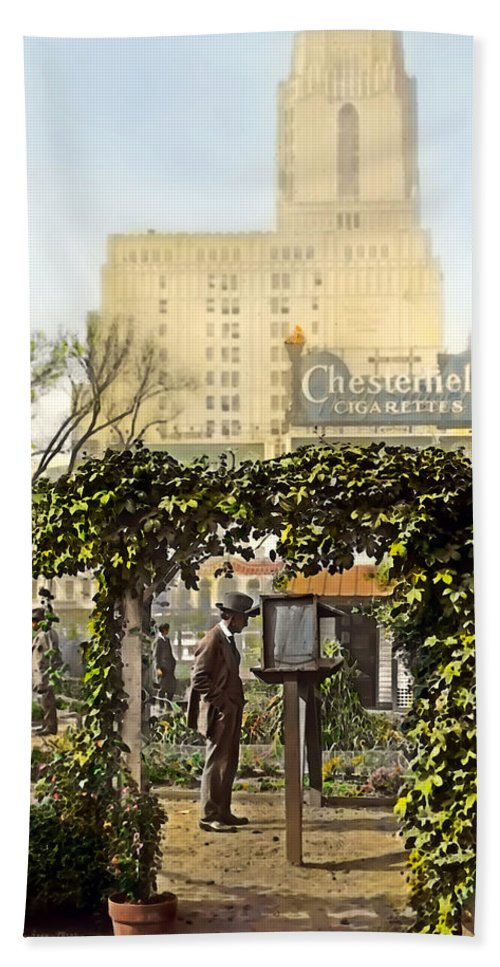 Tranquil Hand Towel featuring the photograph Chesterfield Cigarettes by Terry Reynoldson
