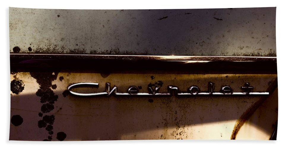 Hand Towel featuring the photograph Chevrolet 3 by Cathy Anderson