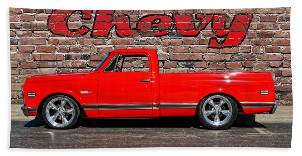 Chevy Hand Towel featuring the photograph Chevy C10 Pickup by Alan Hutchins
