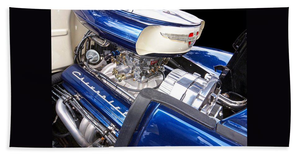 Hot Rod Hand Towel featuring the photograph Chevy Hot Rod Engine by Gill Billington