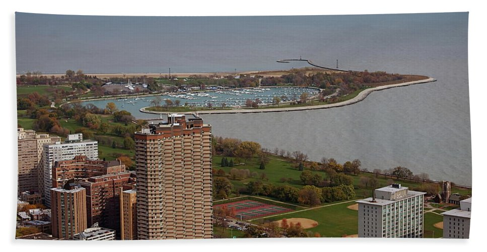 Cities Bath Sheet featuring the photograph Chicago Montrose Harbor 01 by Thomas Woolworth