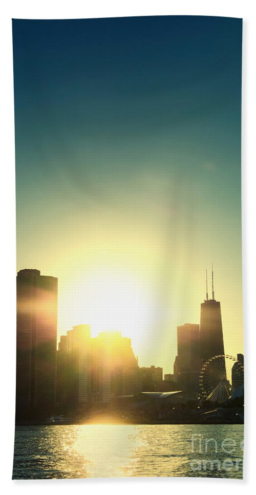 America Hand Towel featuring the photograph Chicago Skyline IIi by Margie Hurwich