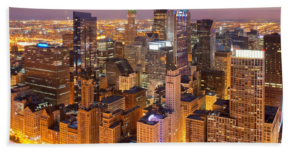 Digital Bath Sheet featuring the photograph Chicago Southwest 2 by Kevin Eatinger