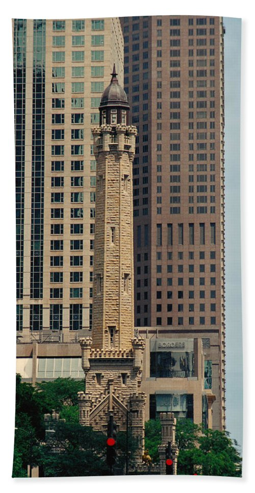 Water Bath Sheet featuring the photograph Chicago Water Tower by Peg Urban