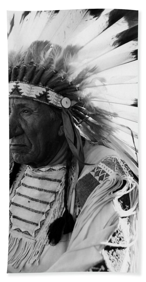 Red Cloud Hand Towel featuring the photograph Chief Red Cloud by War Is Hell Store