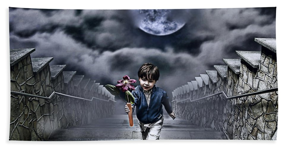 Boy Hand Towel featuring the photograph Child Of The Moon by Joachim G Pinkawa