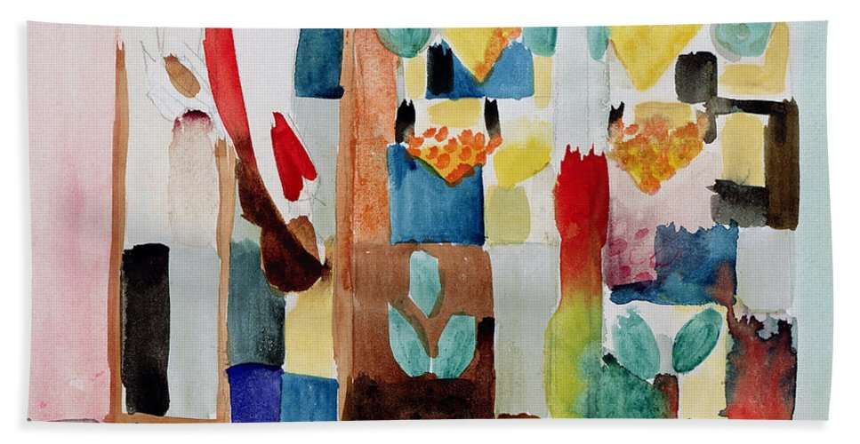 Franc Bath Sheet featuring the painting Children At The Greengrocers I by Franz Marc