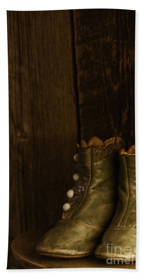 Vintage Hand Towel featuring the photograph Children's Boots by Margie Hurwich
