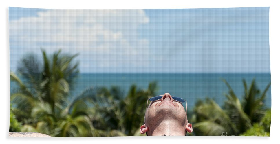 Sunglasses Bath Sheet featuring the photograph Chilled In Paradise by Antony McAulay