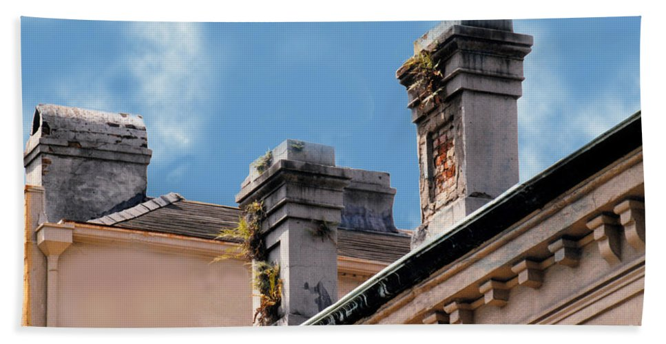 Architecture Hand Towel featuring the photograph Chimneys In French Quarter by Glenn Aker