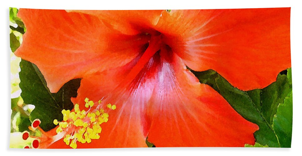 James Temple Bath Sheet featuring the photograph China Camp Hibiscus by James Temple