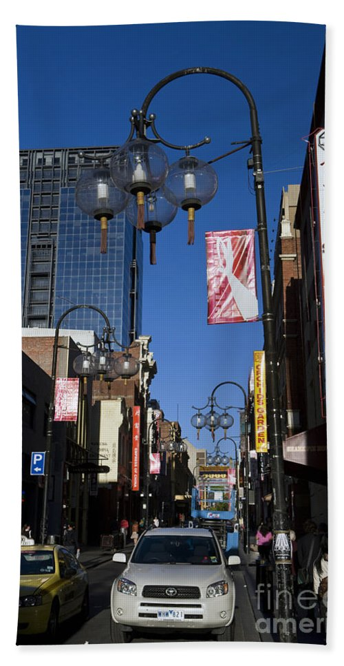 Travel Hand Towel featuring the photograph Chinatown Melbourne by Jason O Watson