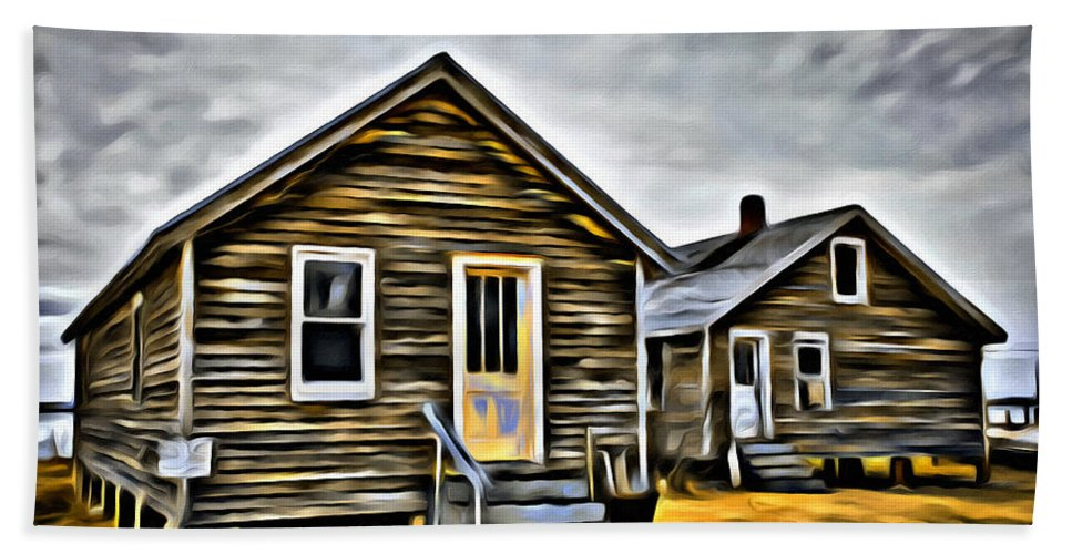 Shanty Bath Sheet featuring the photograph Chincoteague Shanty Artsy by Alice Gipson