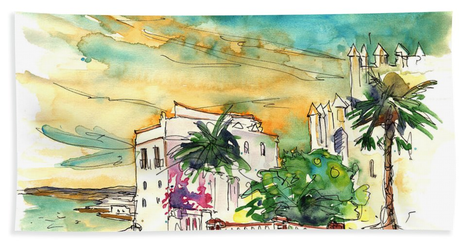 Travel Bath Towel featuring the painting Chipiona Spain 04 by Miki De Goodaboom
