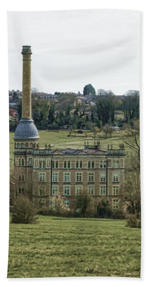 Cotswold Hand Towel featuring the photograph Chipping Norton Mill by Ron Harpham