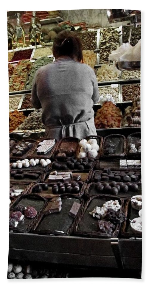 Chocolate Hand Towel featuring the photograph Chocolate Shop by Jennifer Wheatley Wolf