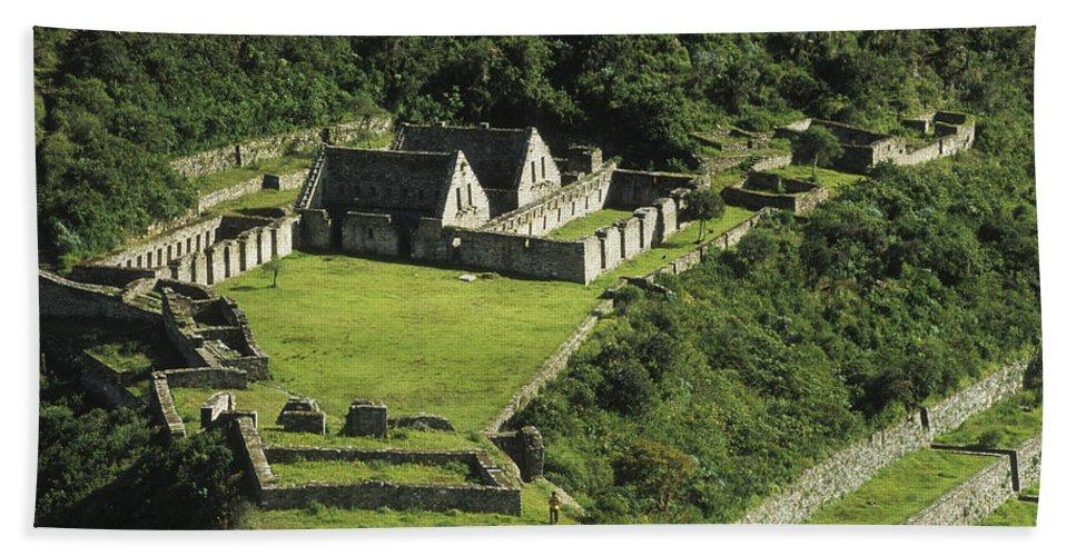 Peru Bath Sheet featuring the photograph Choquequirao by James Brunker