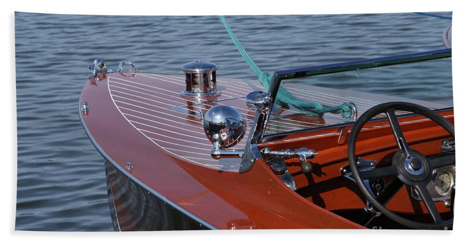 Boat Bath Sheet featuring the photograph Chris Craft Triple Cockpit by Neil Zimmerman