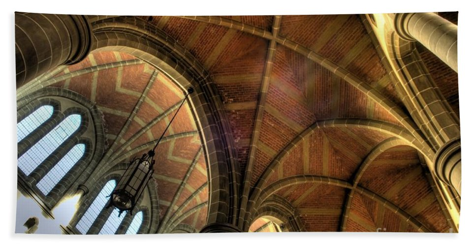 Cathedral Bath Sheet featuring the photograph Christ Church Cathedral Roof Detail by Bob Christopher