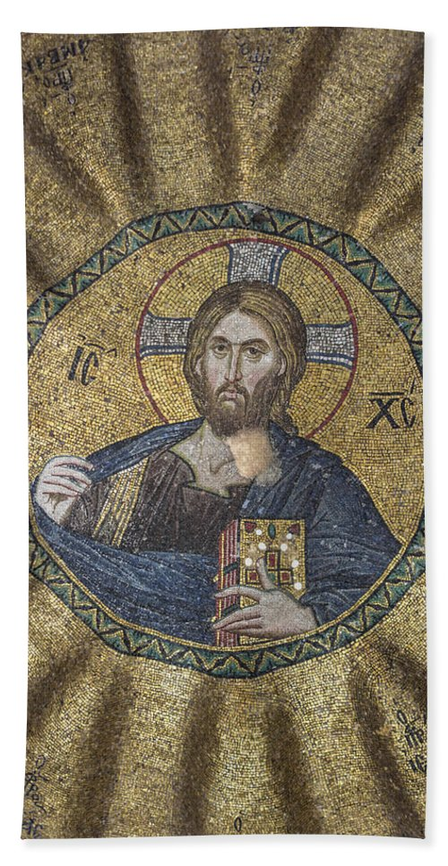 Old Testament Bath Sheet featuring the photograph Christ Pantocrator Surrounded By The Prophets Of The Old Testament 2 by Ayhan Altun