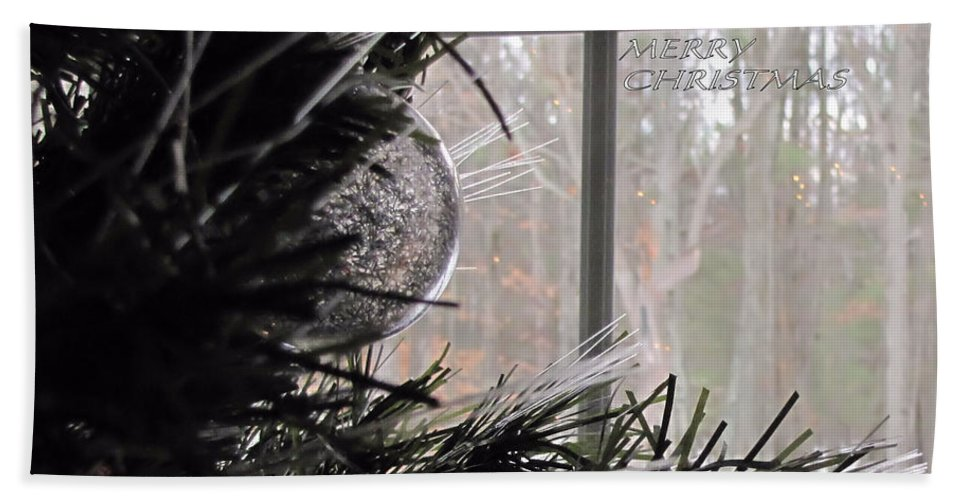 Clear Hand Towel featuring the photograph Christmas Bulb by Katie Wing Vigil