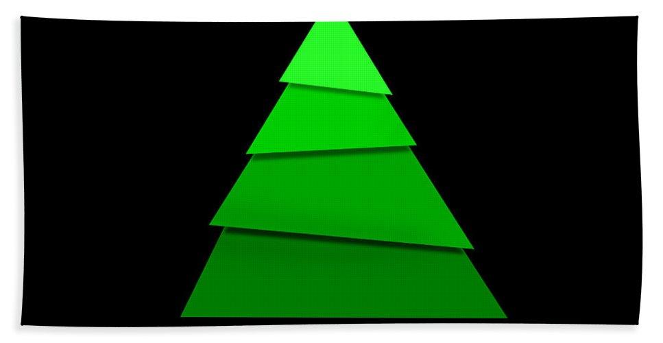 Christmas Bath Sheet featuring the digital art Christmas Card 11 by Martin Capek