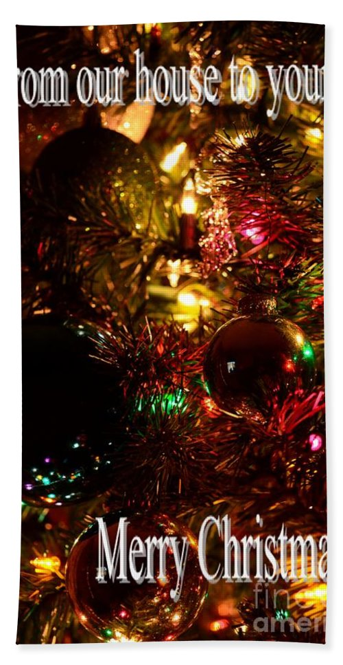 Christmas Card 2 Bath Sheet featuring the photograph Christmas Card 2 by Maria Urso