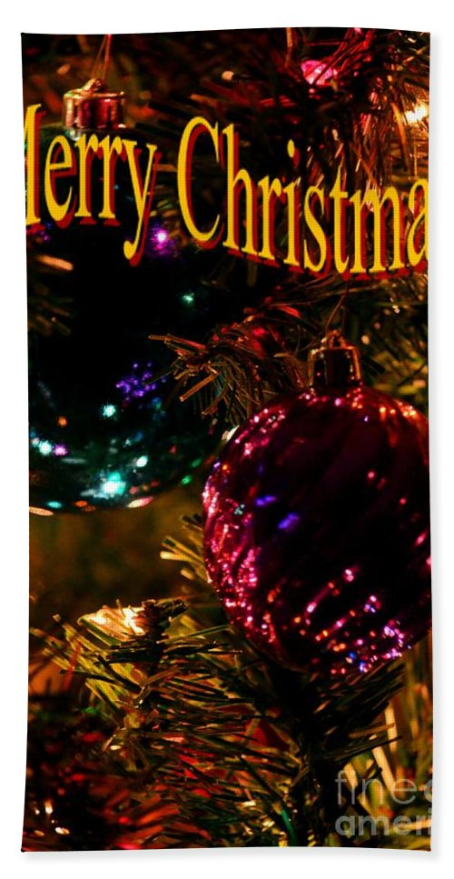 Christmas Card 3 Hand Towel featuring the digital art Christmas Card 3 by Maria Urso