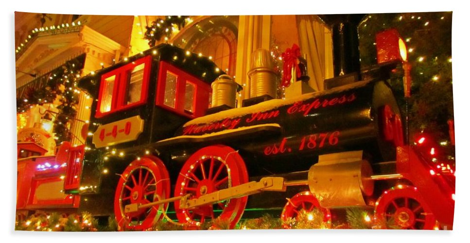 Christmas Express Hand Towel featuring the photograph Christmas Express by John Malone